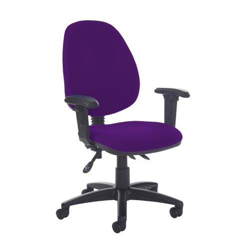 Jota high back asynchro operators chair with adjustable arms - Tarot Purple