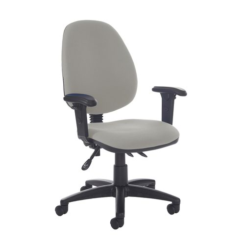 Jota high back asynchro operators chair with adjustable arms - Slip Grey