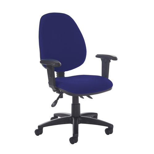 Jota high back asynchro operators chair with adjustable arms - Ocean Blue