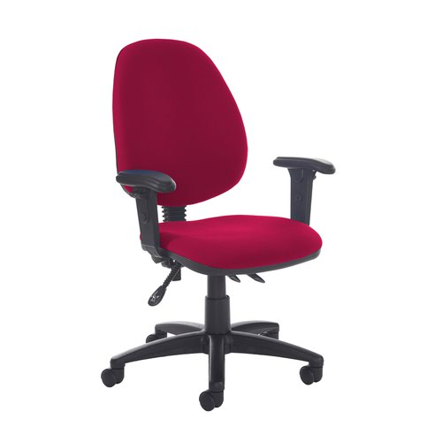 Jota high back asynchro operators chair with adjustable arms - Diablo Pink