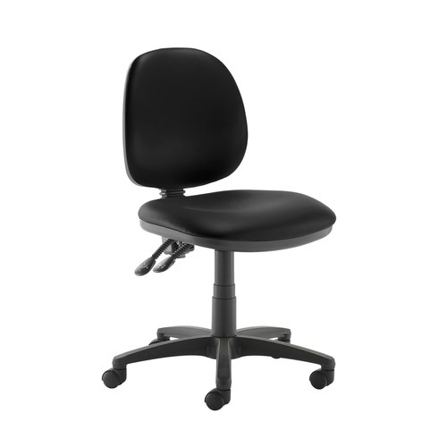 Jota medium back PCB operators chair with no arms - Nero Black vinyl