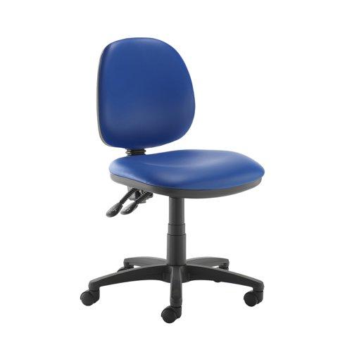 Jota medium back PCB operators chair with no arms - Ocean Blue vinyl