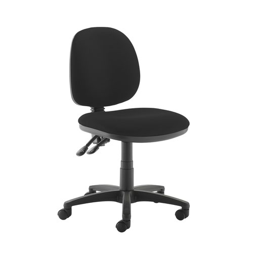 Jota medium back PCB operators chair with no arms - Havana Black