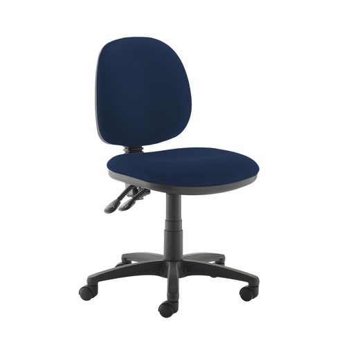 Jota medium back PCB operators chair with no arms - Costa Blue