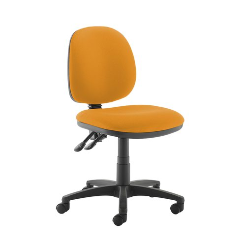 Jota medium back PCB operators chair with no arms - Solano Yellow