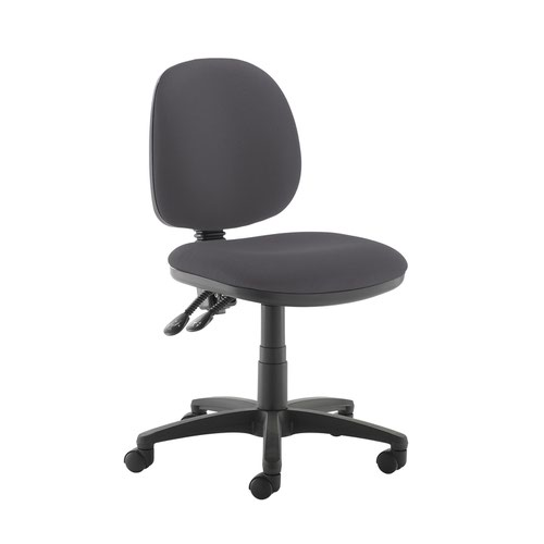 Jota medium back PCB operators chair with no arms - Blizzard Grey