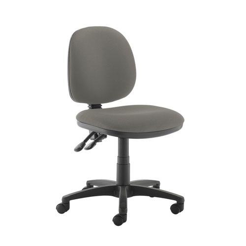 Jota medium back PCB operators chair with no arms - Slip Grey