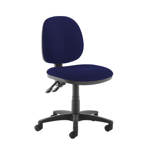 Jota medium back PCB operators chair with no arms - Ocean Blue