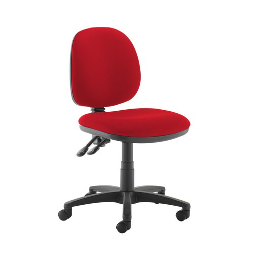Jota medium back PCB operators chair with no arms - Belize Red