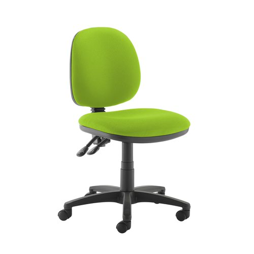 Jota medium back PCB operators chair with no arms - Madura Green