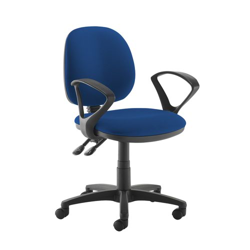 Jota medium back PCB operators chair with fixed arms - Curacao Blue