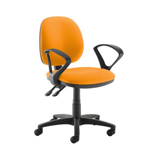 Jota medium back PCB operators chair with fixed arms - Solano Yellow