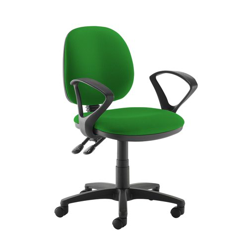 Jota medium back PCB operators chair with fixed arms - Lombok Green
