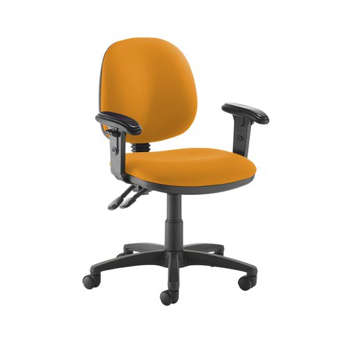 Jota medium back PCB operators chair with adjustable arms - Solano Yellow