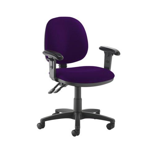 Jota medium back PCB operators chair with adjustable arms - Tarot Purple