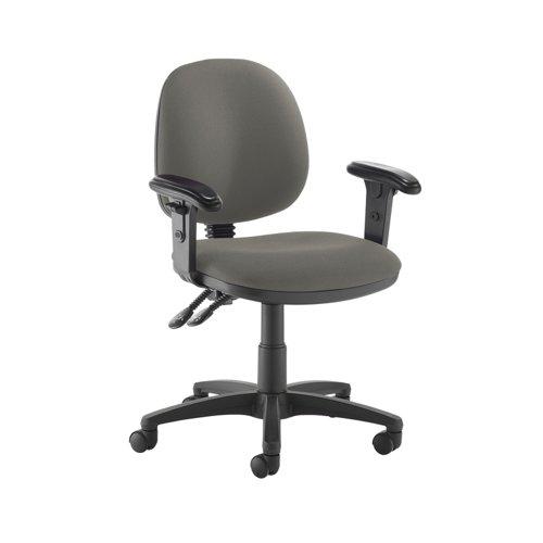 Jota medium back PCB operators chair with adjustable arms - Slip Grey