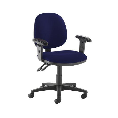 Jota medium back PCB operators chair with adjustable arms - Ocean Blue