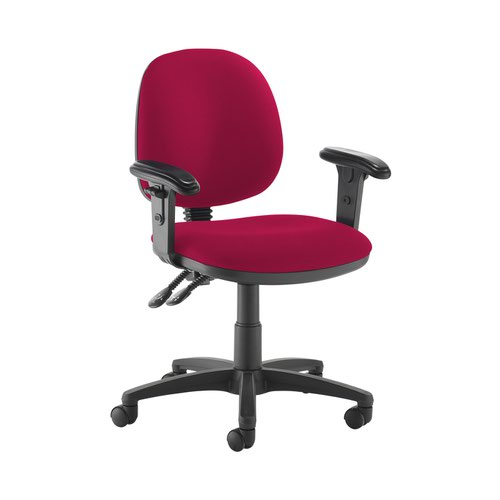Jota medium back PCB operators chair with adjustable arms - Diablo Pink