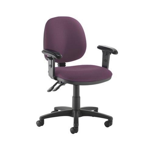 Jota medium back PCB operators chair with adjustable arms - Bridgetown Purple