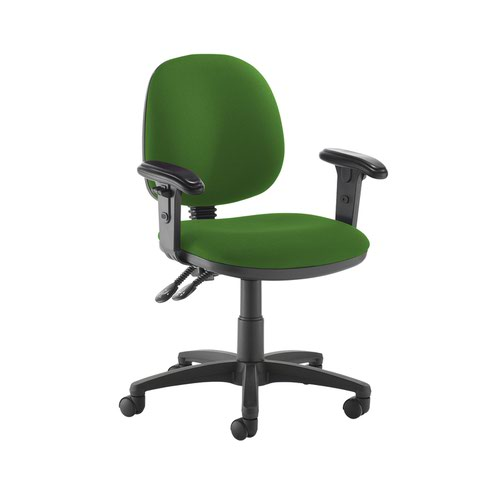 Jota medium back PCB operators chair with adjustable arms - Lombok Green