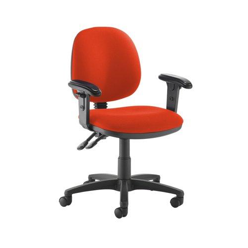 Jota medium back PCB operators chair with adjustable arms - Tortuga Orange