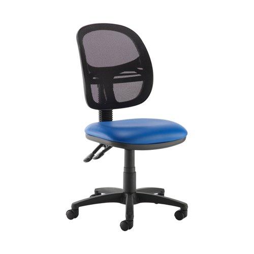 Jota Mesh medium back operators chair with no arms - Ocean Blue vinyl