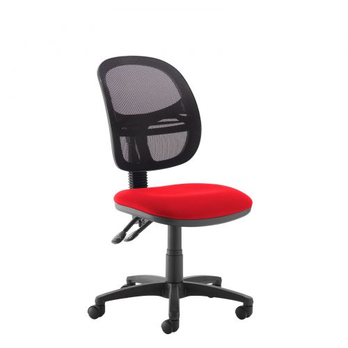 Jota Mesh medium back operators chair with no arms - red