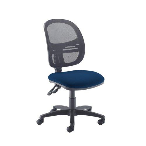Jota Mesh medium back operators chair with no arms - Costa Blue