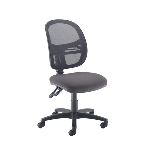 Jota Mesh medium back operators chair with no arms - Blizzard Grey