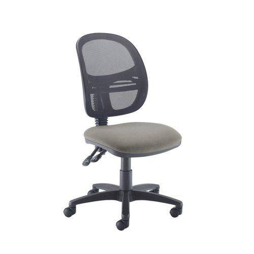 Jota Mesh medium back operators chair with no arms - Slip Grey