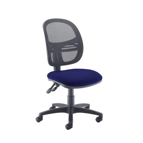 Jota Mesh medium back operators chair with no arms - Ocean Blue
