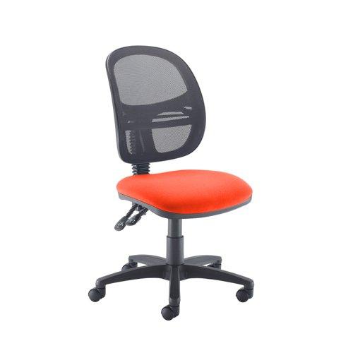 Jota Mesh medium back operators chair with no arms - Tortuga Orange