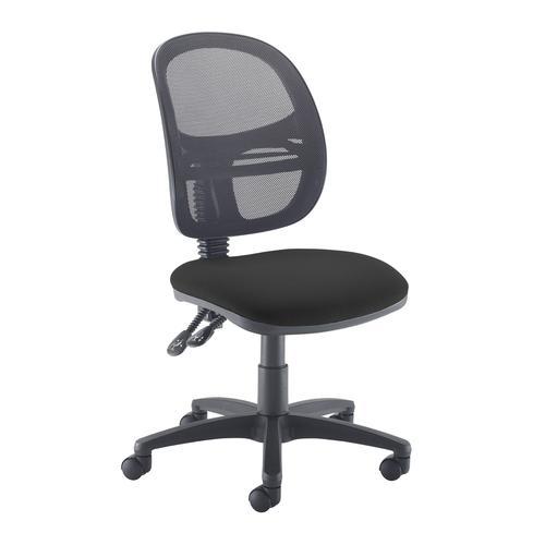Jota Mesh medium back operators chair with no arms - black