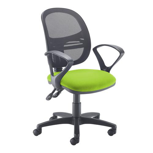 Jota Mesh medium back operators chair with fixed arms - green