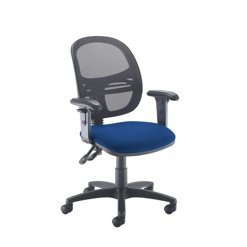 Jota Mesh medium back operators chair with adjustable arms - Curacao Blue
