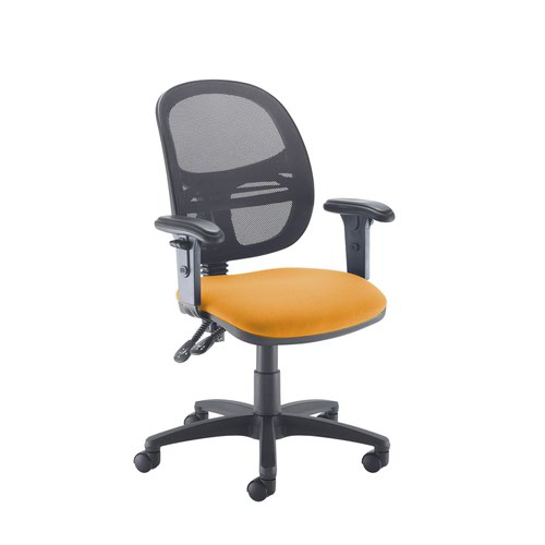 Jota Mesh medium back operators chair with adjustable arms - Solano Yellow