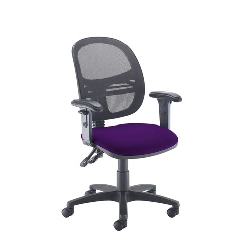 Jota Mesh medium back operators chair with adjustable arms - Tarot Purple