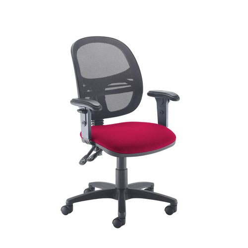 Jota Mesh medium back operators chair with adjustable arms - Diablo Pink
