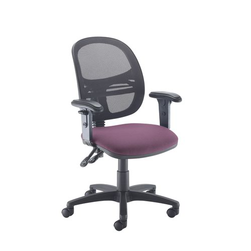 Jota Mesh medium back operators chair with adjustable arms - Bridgetown Purple