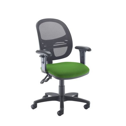 Jota Mesh medium back operators chair with adjustable arms - Lombok Green
