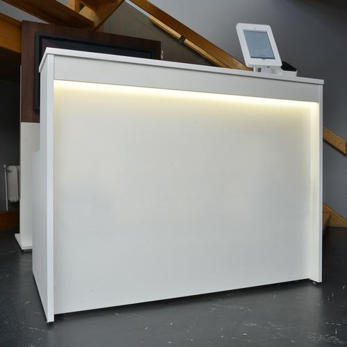 Welcome reception desk 1462mm wide - beech Reception Desks WRD14-B