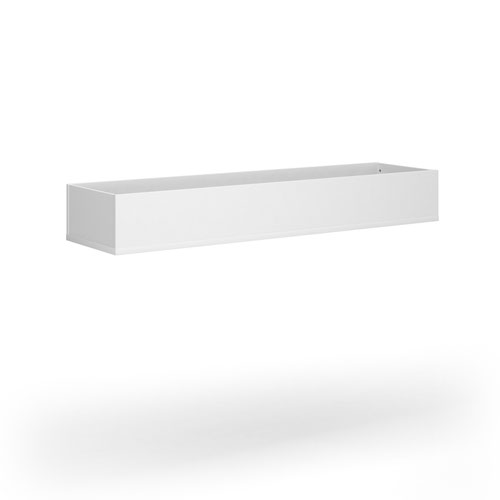 Wooden planter 1600mm wide to fit on side-by-side wooden lockers - white