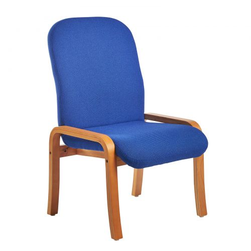 Yealm Reception Chair no Arms Blue