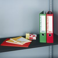 Extra shelf for steel storage cupboards and tambours - black