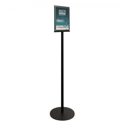 magnetic double sided floor standing sign holder