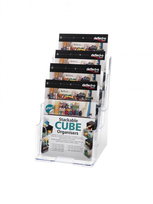 Deflecto 4 Tier Literature Holder A5 DE779YTCRY