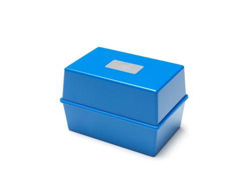 Value Value Deflecto Card Index Box 5x3 Blue CP010YTBLU