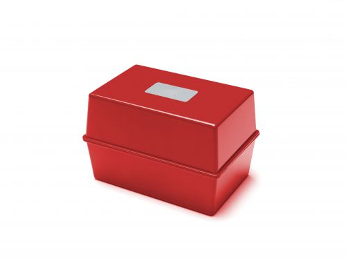 Value Deflecto Card Index Box (6 x 4 inches) Red