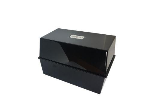 Value Deflecto Card Index Box 8x5 Black