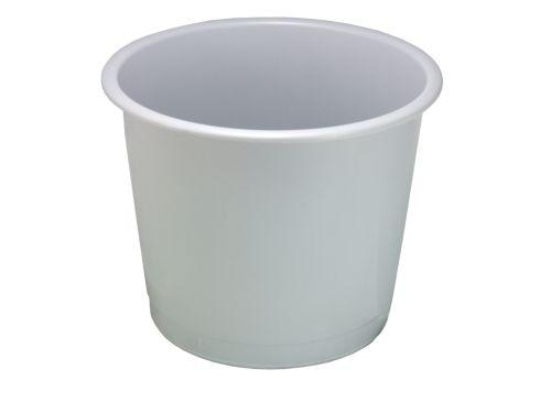 Round Plastic Waste Bin 14 Litre Grey